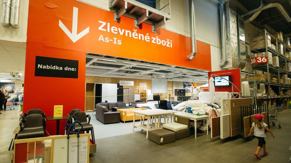 Koutek, kde se nově prodává i bazarové zboží IKEA