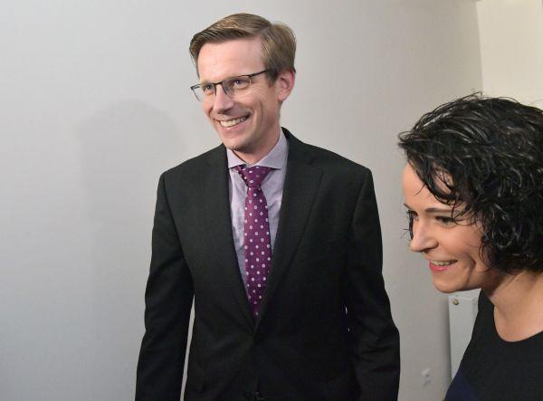 Místopředseda Občanské demokratické strany (ODS) Martin Kupka přichází do volebního štábu ODS.