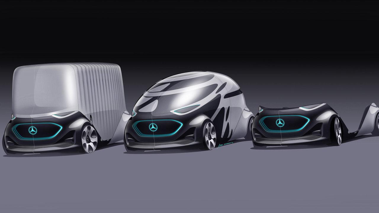 Mercedes-Benz Vision Urbanetic je díky vyměnitelným modulům možné přetvořit z minibusu na dodávku.