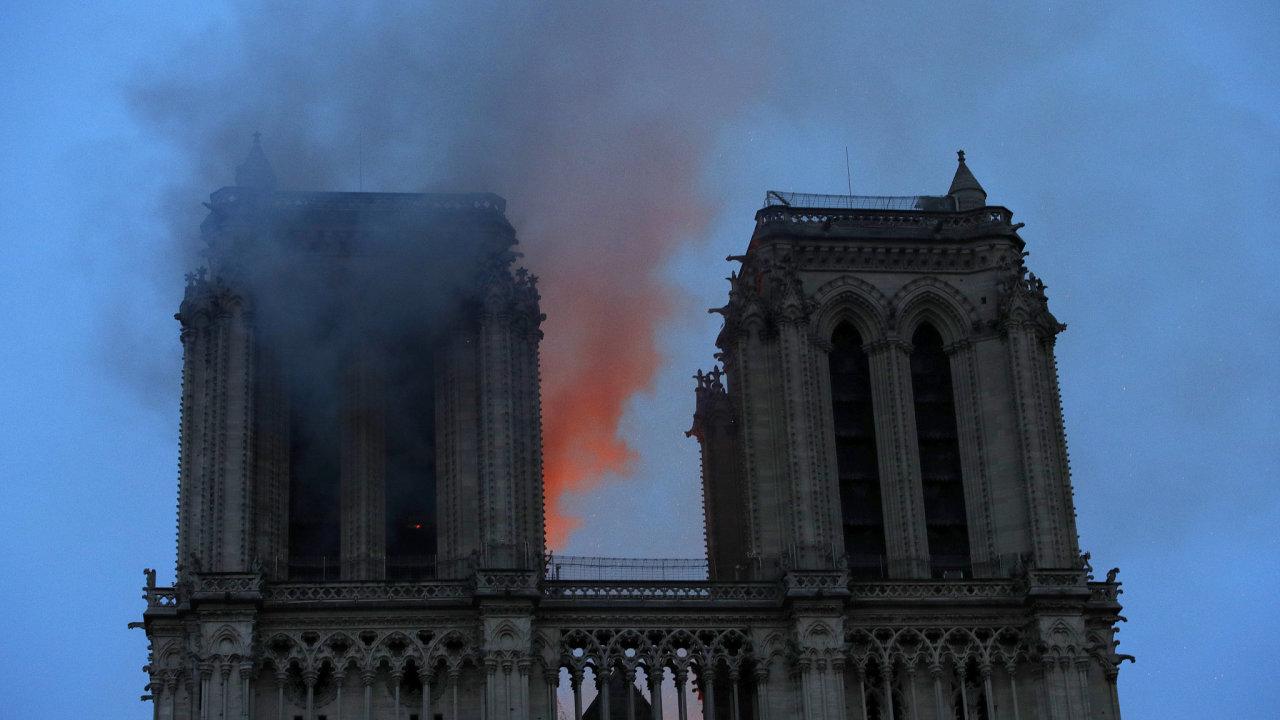 Notre-Dame, paříž, požár