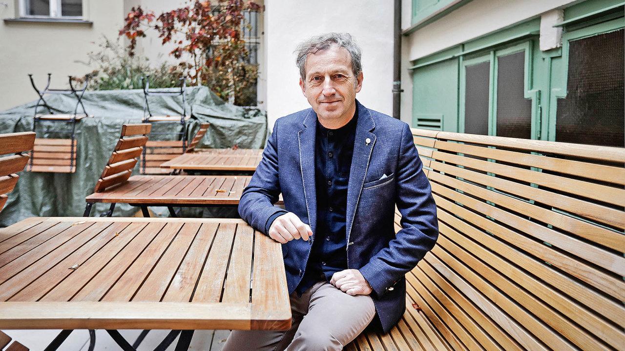 Spisovatel a majitel nakladatelství Práh Martin Vopěnka