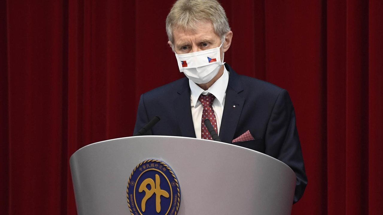 Šéf Senátu Miloš Vystrčil se vrátil z návštěvy Tchaj-wanu.