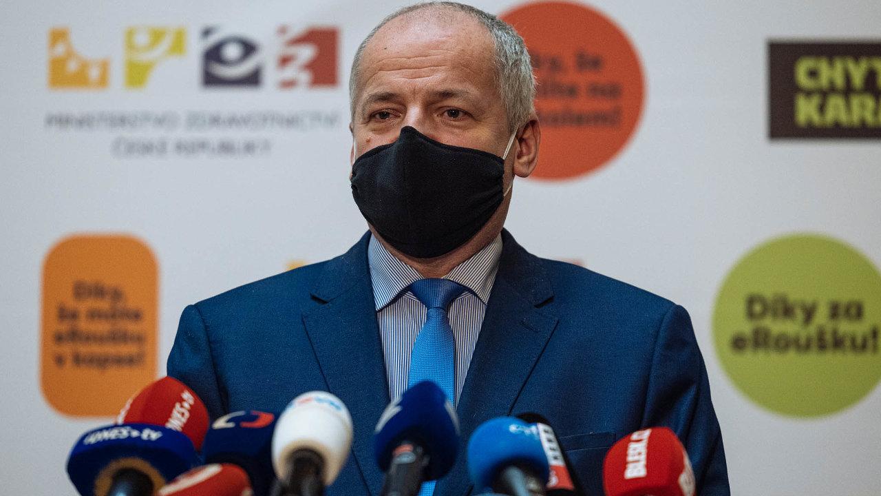 Ministr zdravotnictví Roman Prymula považuje