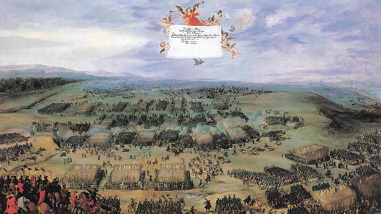 Ostatní národy se dojímají nad svými vítěznými bitvami, Češi prohrou z roku 1620.