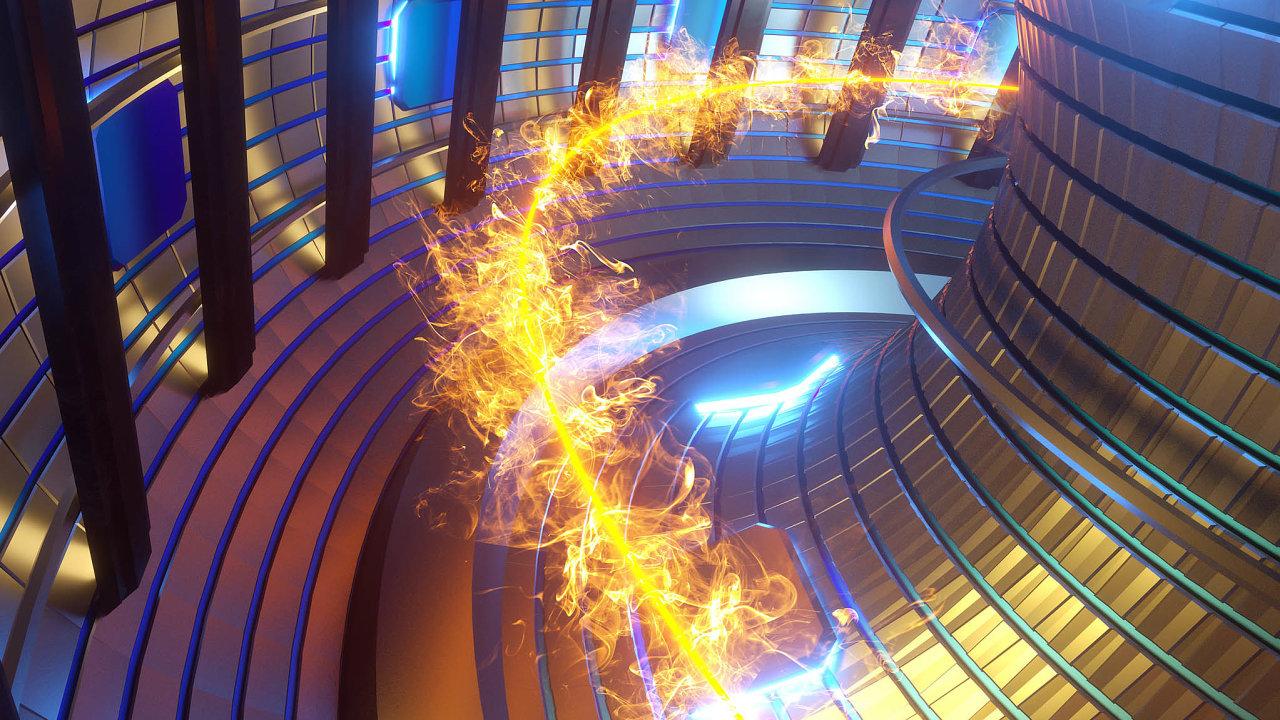 Díky termojaderné fúzi by se mohlo vyrábět obrovské množství energie, aniž by vznikal radioaktivní odpad. Na snímku 3D vizualizace fúze.
