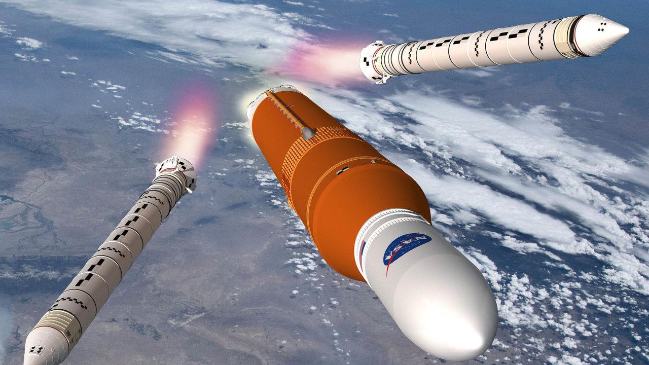 Space Launch System využívá prvky předchůdců, Saturnu V i strojů zprogramu Space Shuttle. Stejně jako ony hlavní raketu doplňují dvě přídavné– boostery. Ty mají uSLS posílit tah při úvodním zážehu.