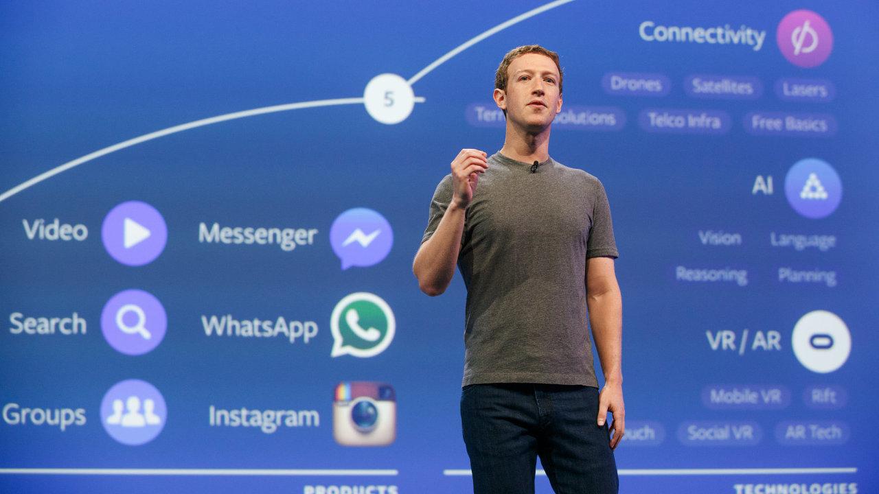 Mark Zuckerberg na konferenci F8 2016