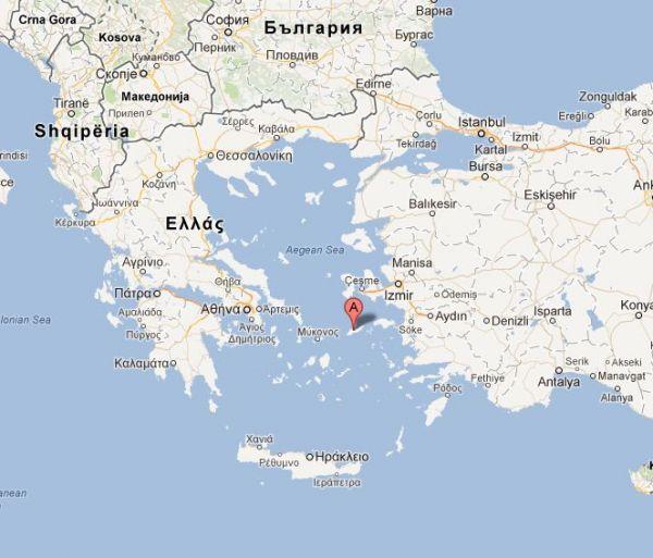 Řecko a ostrov Ikaria