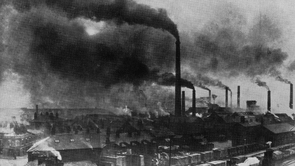 Továrna v anglickém Widnes na sklonku 19. století