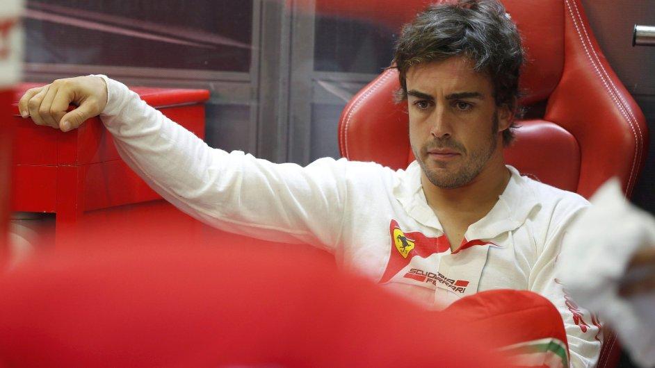 Zklamaný Fernando Alonso
