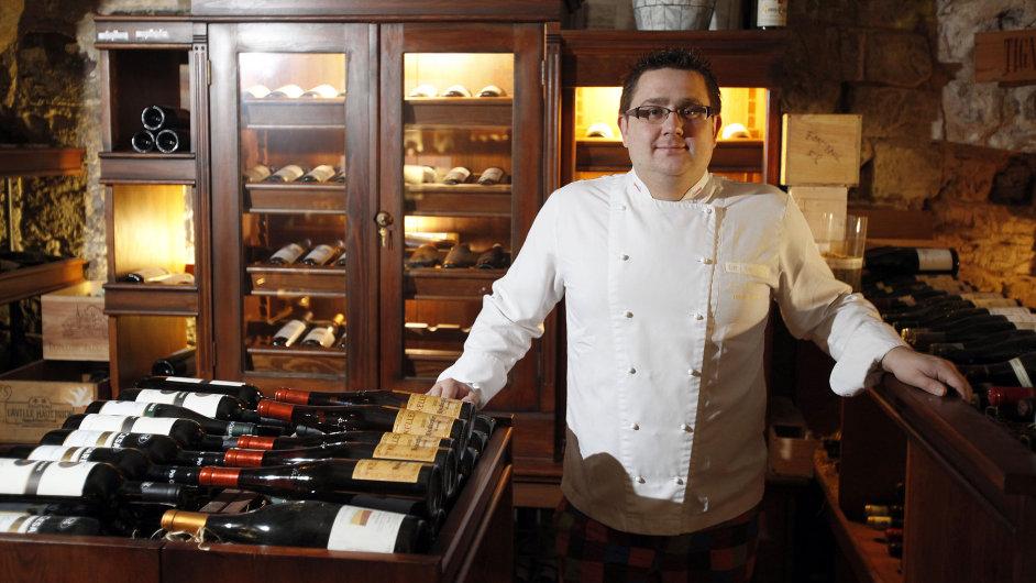 Šéfkuchař Jan Punčochář v restauraci Le Terroir