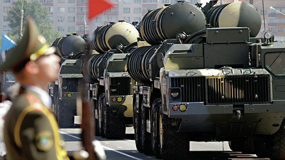 Belarusssian S-300 mobile missile launching systems drive through a military parade during celebrations marking Independence Day in Minsk July 3