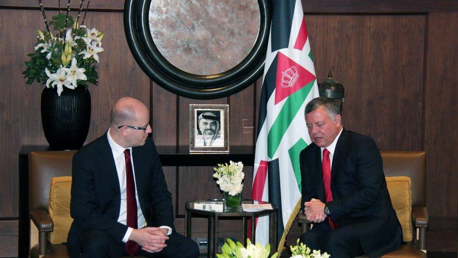 Premiér Bohuslav Sobotka jednal s jordánským králem Abdalláhem II.
