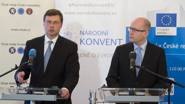 Konference se zúčastnil i zástupce Evropské komise Valdis Dombrovskis.