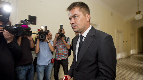 Marek Dal�k u soudu v �ervnu 2014.