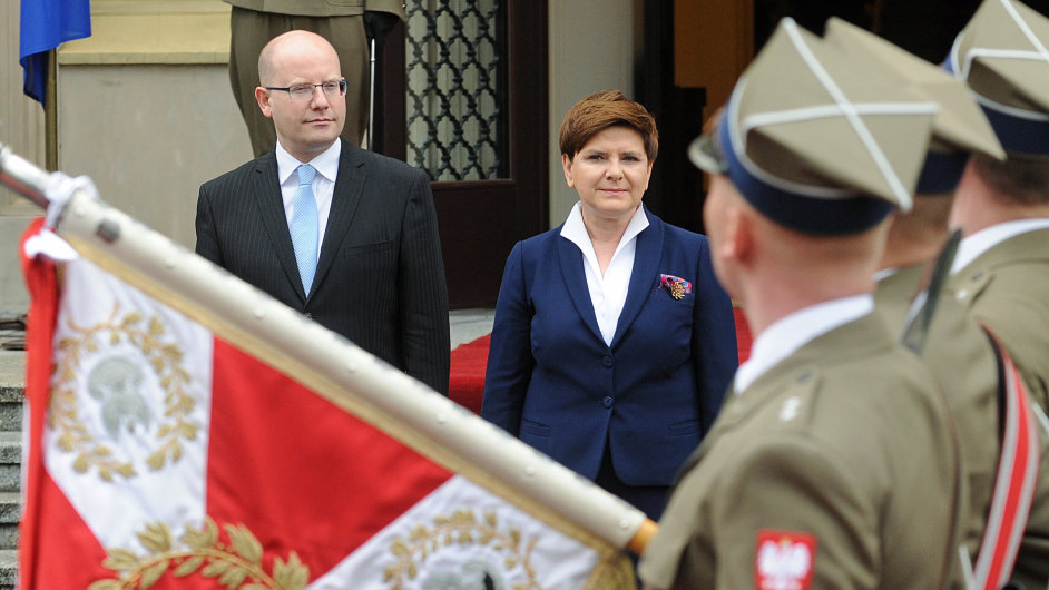 Bohuslav Sobotka, Beata Szydlová, premiéři