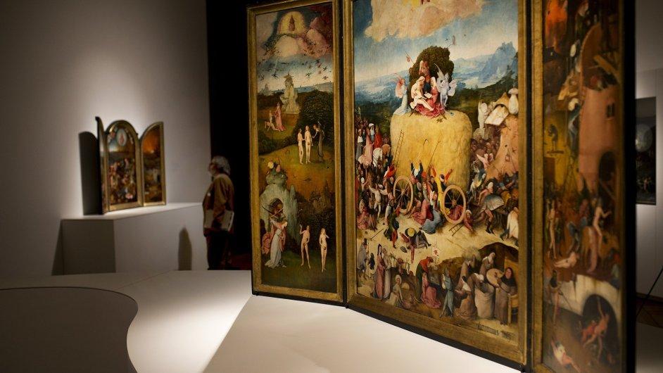 Snímek z výstavy Hieronyma Bosche v madridském muzeu Prado.