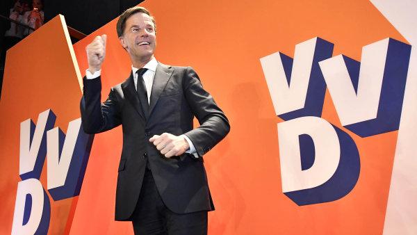 Vítěz nizozemských voleb Mark Rutte.