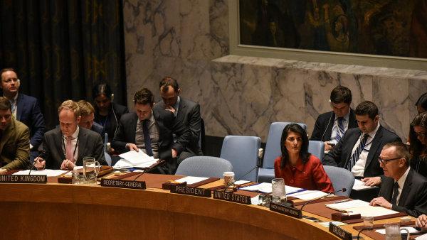 Jednání Rady bezpečnosti OSN o situaci v Sýrii.