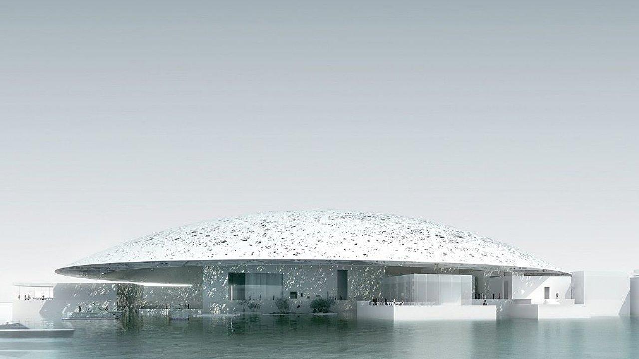 Vizualizace galerie Louvre Abú Dhabí, kterou navrhl architekt Jean Nouvel.