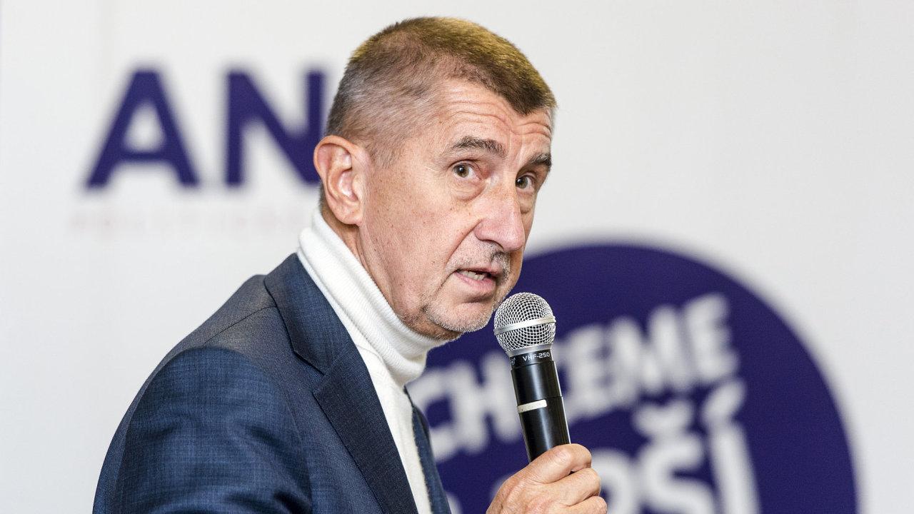 Lídr hnutí ANO Andrej Babiš.