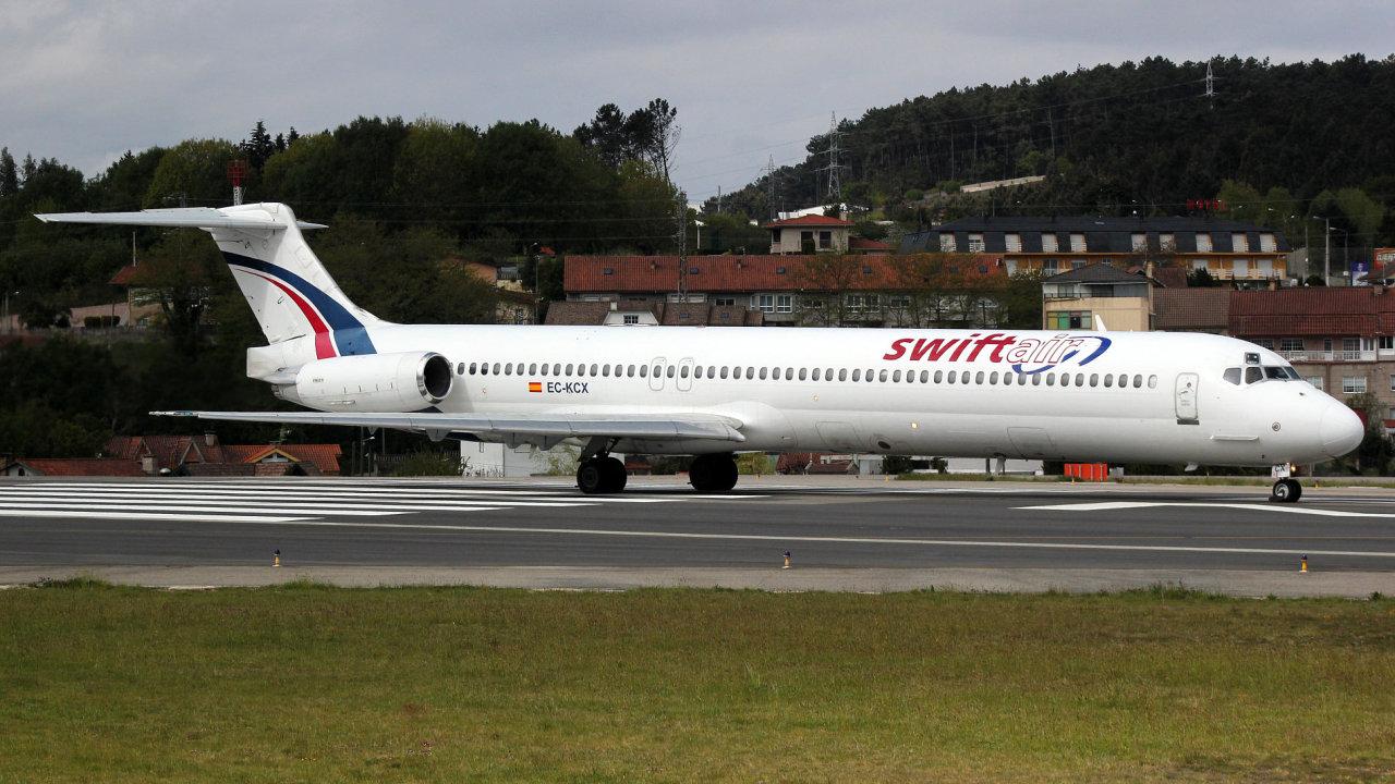 Letadlo MD 83 společnosti Swiftair - ilustrační foto