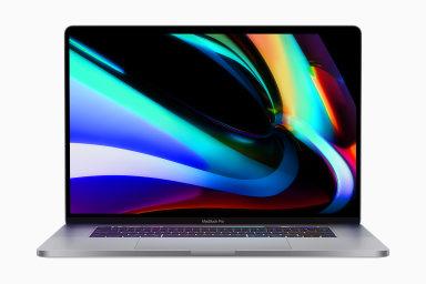 """Nový """"Macbook Pro 16palcový model"""" má vedle spolehlivější klávesnice o centimetr větší úhlopříčku obrazovky s tenčími rámečky."""