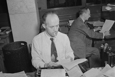 Redaktoři zahraniční rubriky The New York Times, srpen 1942.