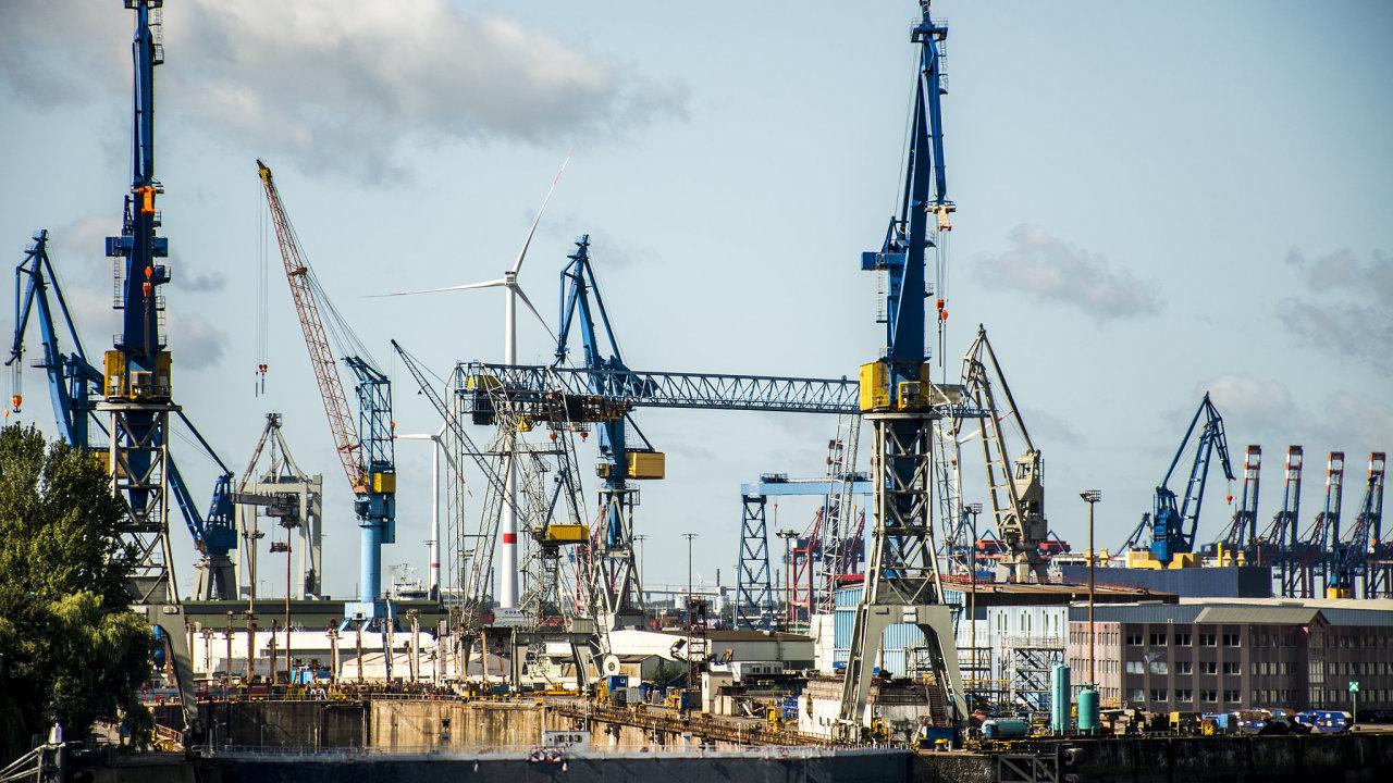 Hamburg Německo průmysl