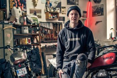 Dílnu vestředočeské Čími má Matěj Sysel rok apůl, předtím motocykly přestavoval vČeských Budějovicích.