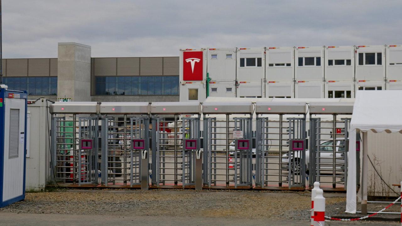 Gigafactory Tesly u Berlína.