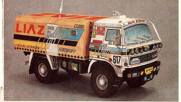 Papírový model vozu Liaz 111 upravený pro závod Rallye Dakar z časopisu ABC , který se dá také najít na  Ulož.to.