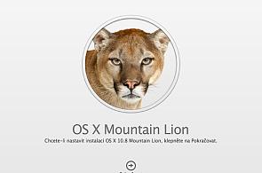 Apple začal prodávat OS X  10.8 Mountain Lion, uživatelé si stěžují na přetížené servery