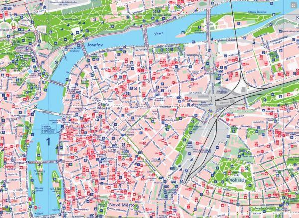 Zelen� mapa Prahy