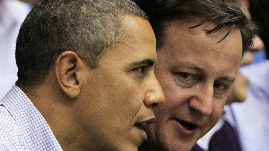 David Cameron na návštěvě u Baracka Obamy