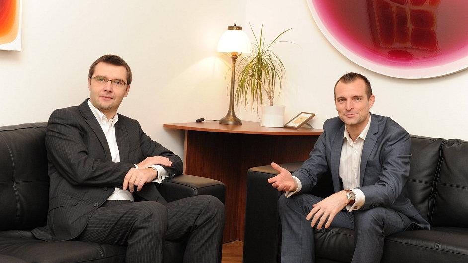 Libor Knappek a Jakub Křížek ze společnosti Venture Investors Corporate Finance