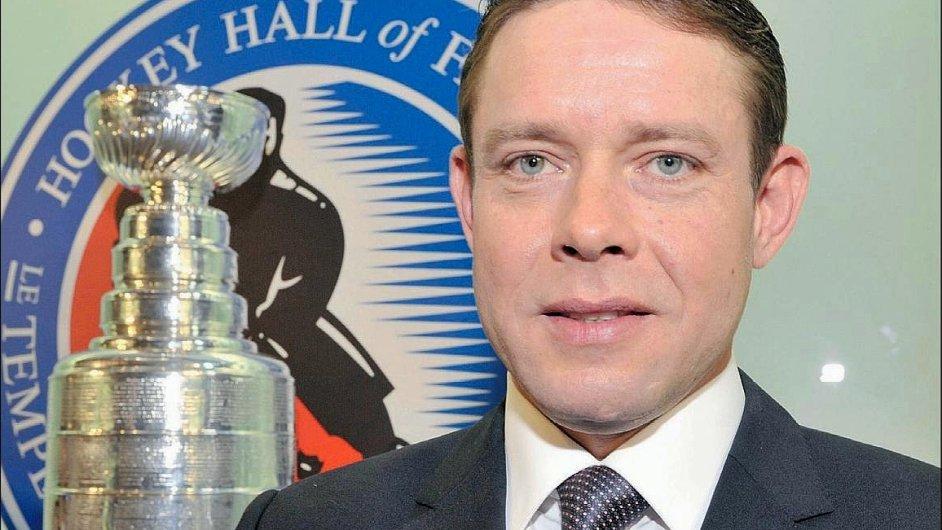 Pavel Bure jako člen hokejové Síně slávy