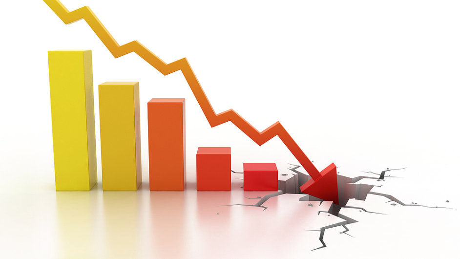 HDP klesá už šest čtvrtletí v řadě