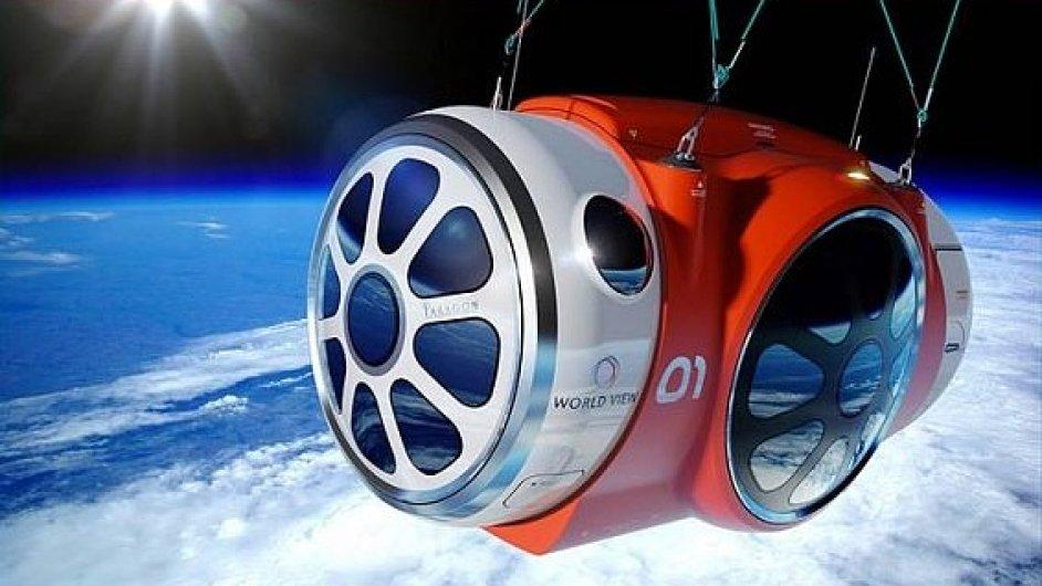 Kabina World View, která vynese zájemce do stratosféry