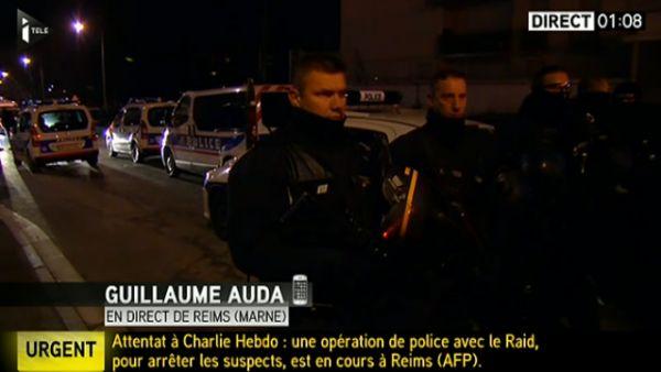 Živé vysílání k aktuálnímu dění ve Francii