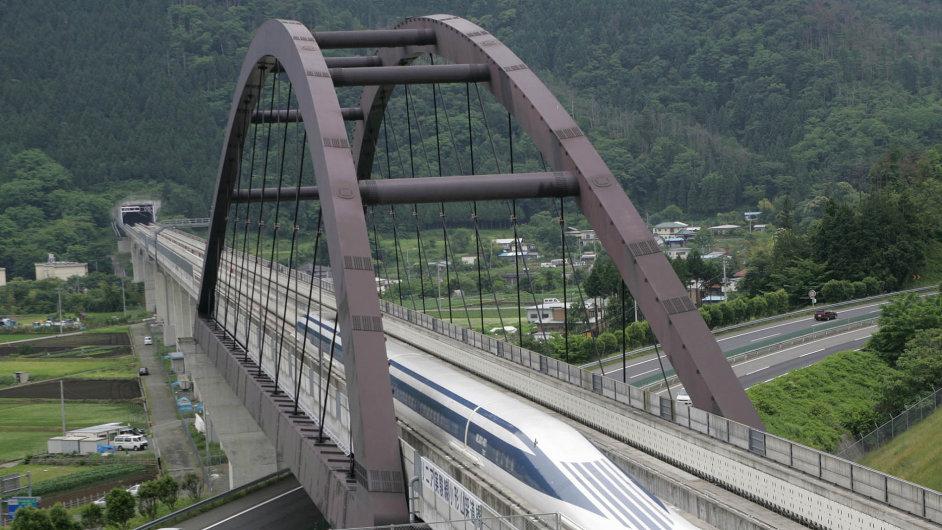 Japonský Maglev, nejrychlejší vlak na světě.