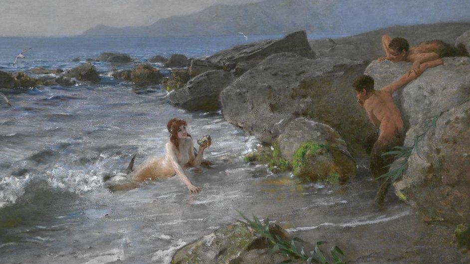 Beneš Knüpfer namaloval Vyzvání ke hře kolem roku 1890.