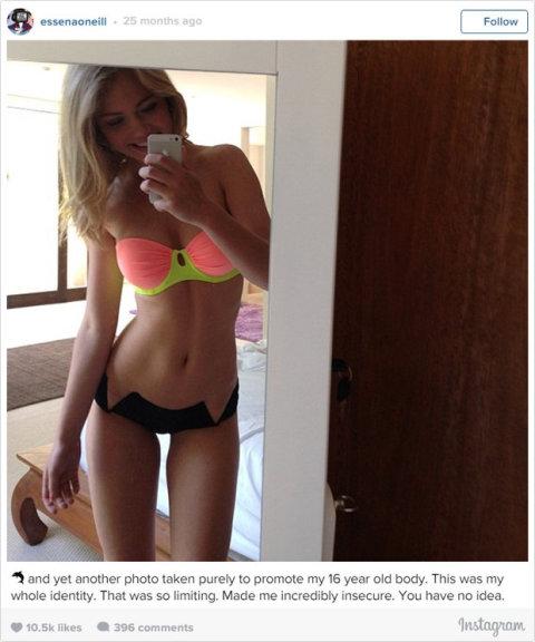 Essena dostala 10 000 Kč za to, že si oblékla tyto šaty, které vystavila na Instagramu
