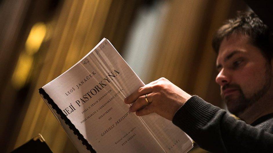 Snímek ze zkoušky České filharmonie na páteční koncertní provedení Janáčkovy Její pastorkyně