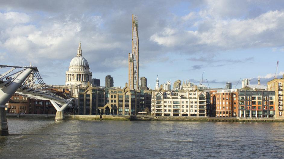Londýnský mrakodrap The Shard bude mít možná brzy konkurenta – dřevěný mrakodrap Oakwood Tower.
