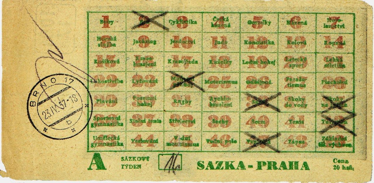 sázenka - vzor 1957