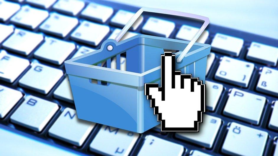E-commerce, e-shop, ilustrace
