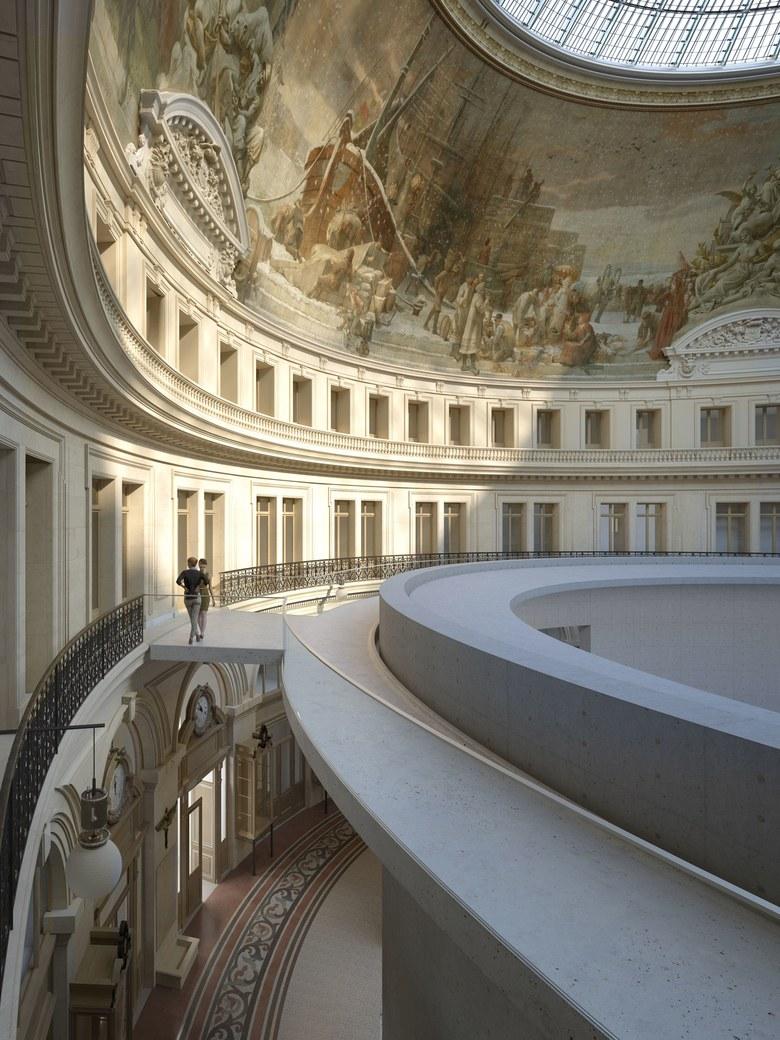 Na snímku je návrh interiéru budoucího muzea Pinaultovy nadace v budově Bourse de Commerce.