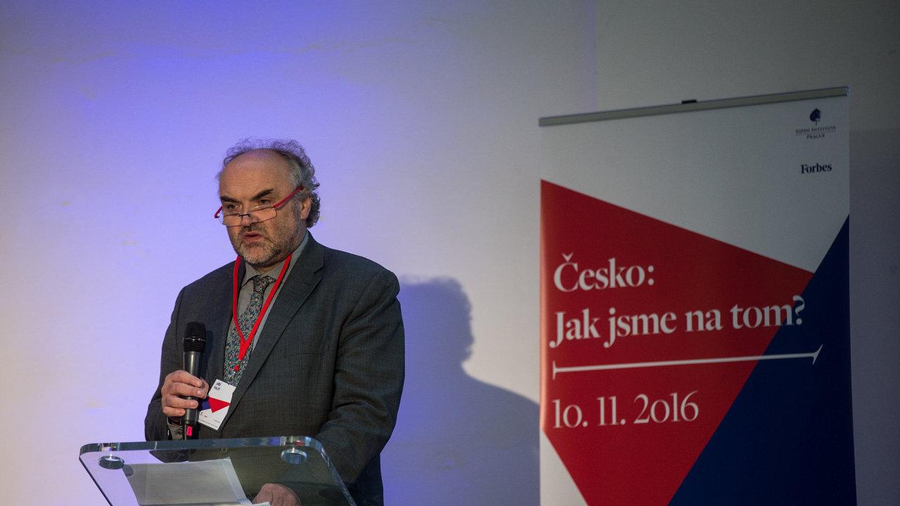 Ředitel Národní galerie Jiří Fajt je na snímku z loňské konference Aspen Institutu a časopisu Forbes.