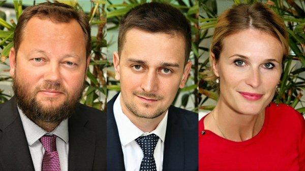 Roman Barinka, Martin Kaľata a Alexandra Kostřicová, advokátní, daňový a PR tým poradenské skupiny Vilímková Dudák & Partners